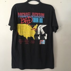 Vintage Tops - VINTAGE 1988 MICHAEL JACKSON TOUR TEE